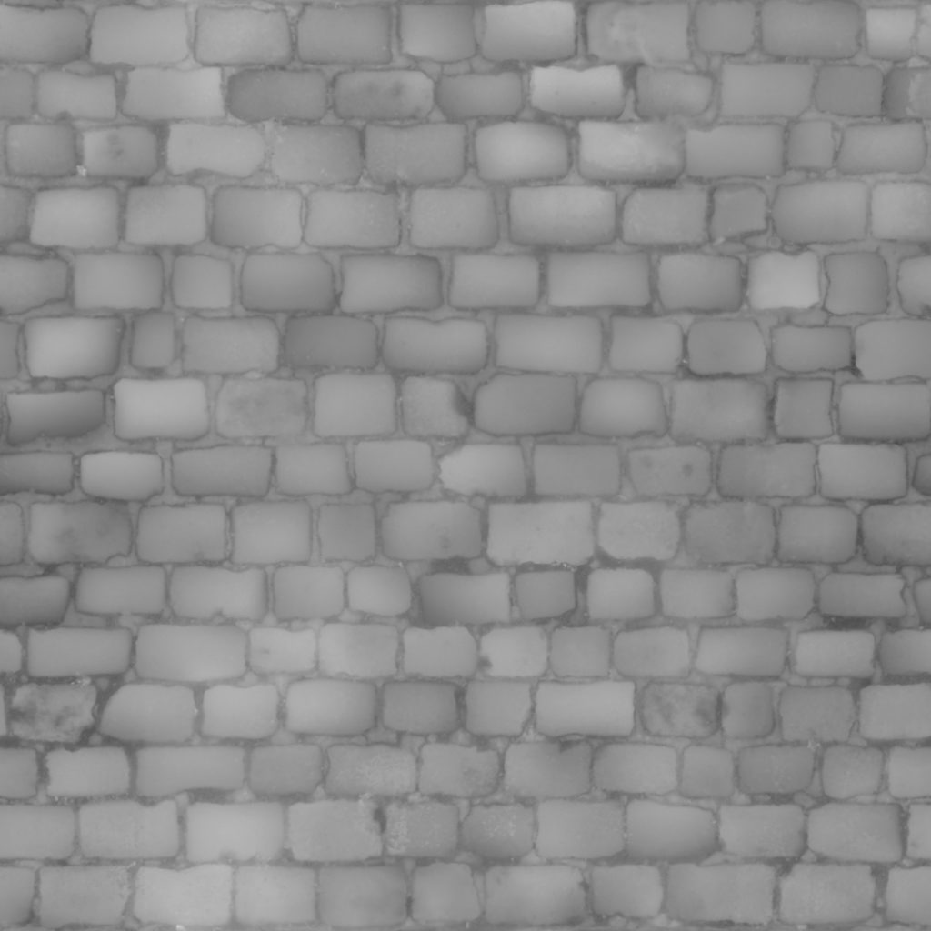 3D Scanned Seamless Cobblestone Pavement Displacement Map