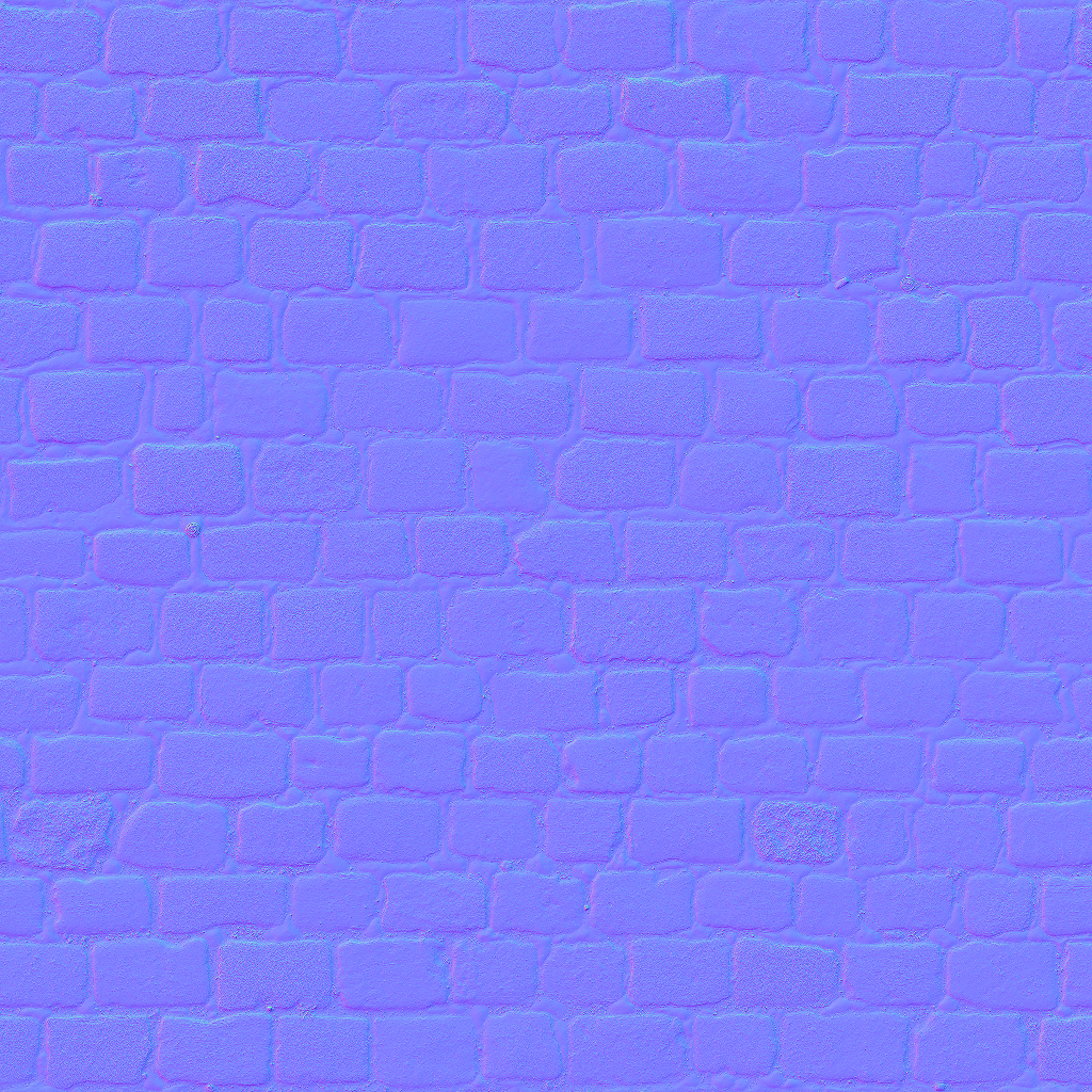 3D Scanned Seamless Cobblestone Pavement Normal Map