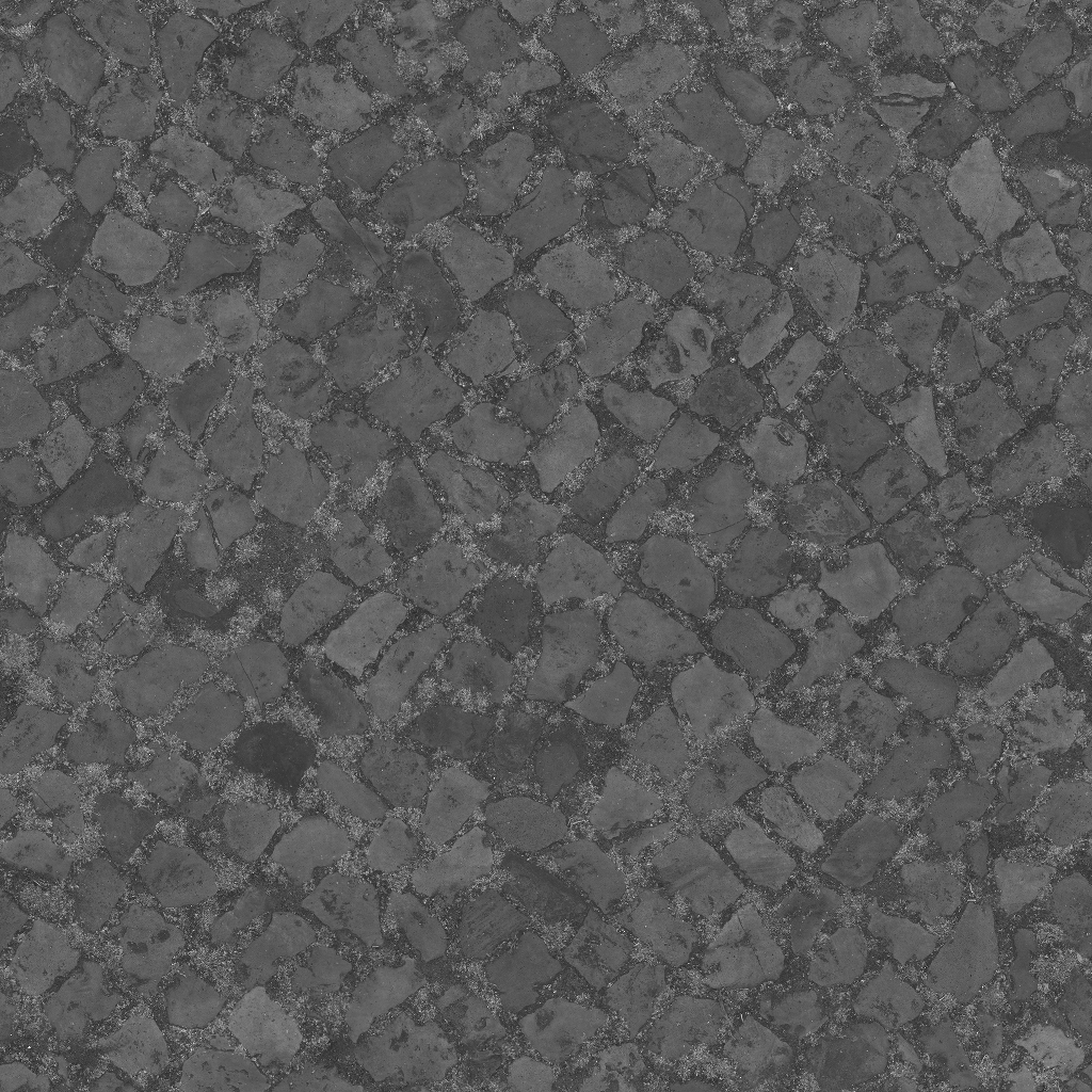 3D Scanned Seamless Cobblestone Pavement Specular Map
