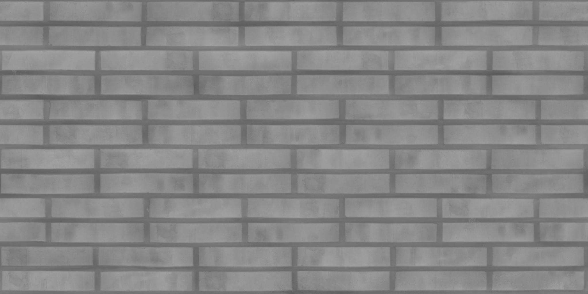3D Scanned Seamless Brick Wall Dark Height Map