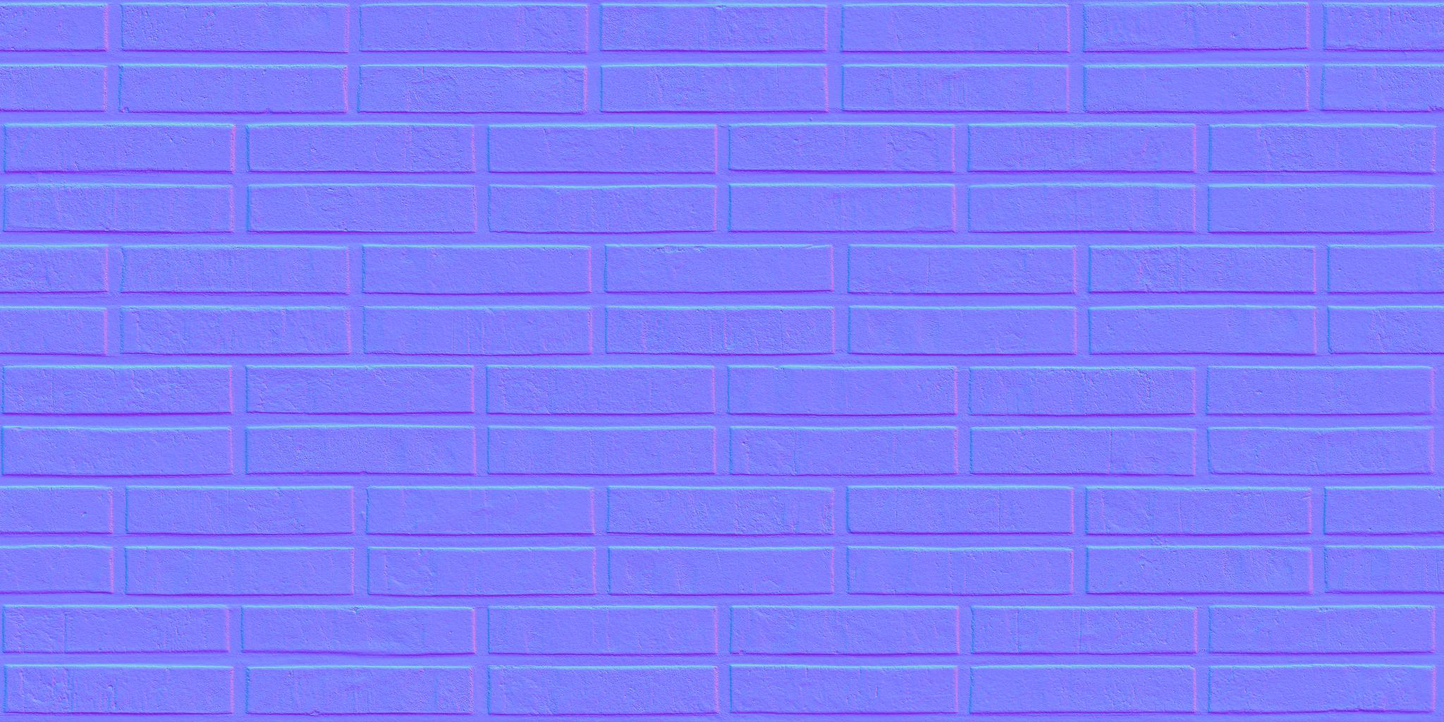 3D Scanned Seamless Brick Wall Dark Normal Map