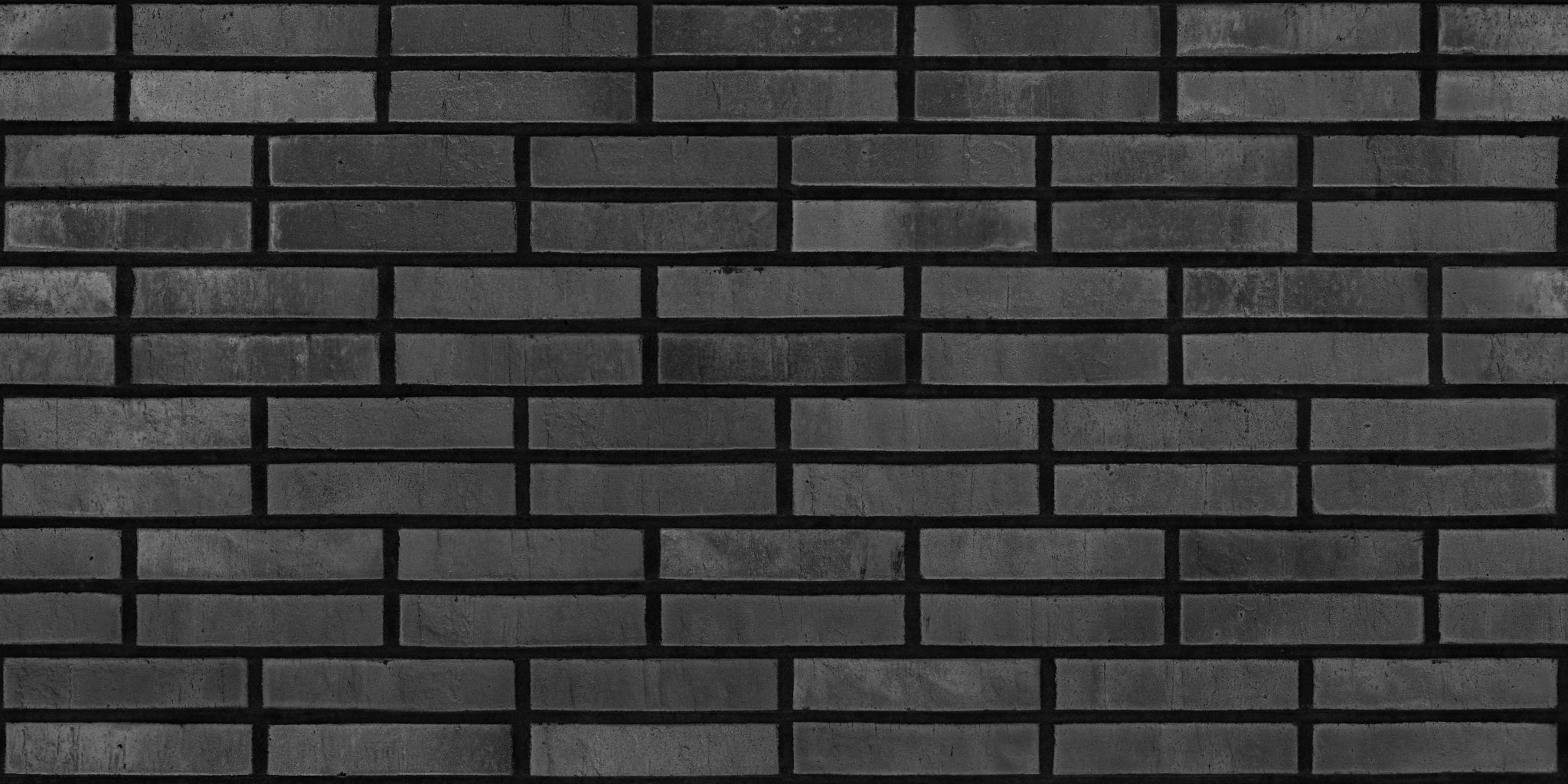 3D Scanned Seamless Brick Wall Dark Specular Map