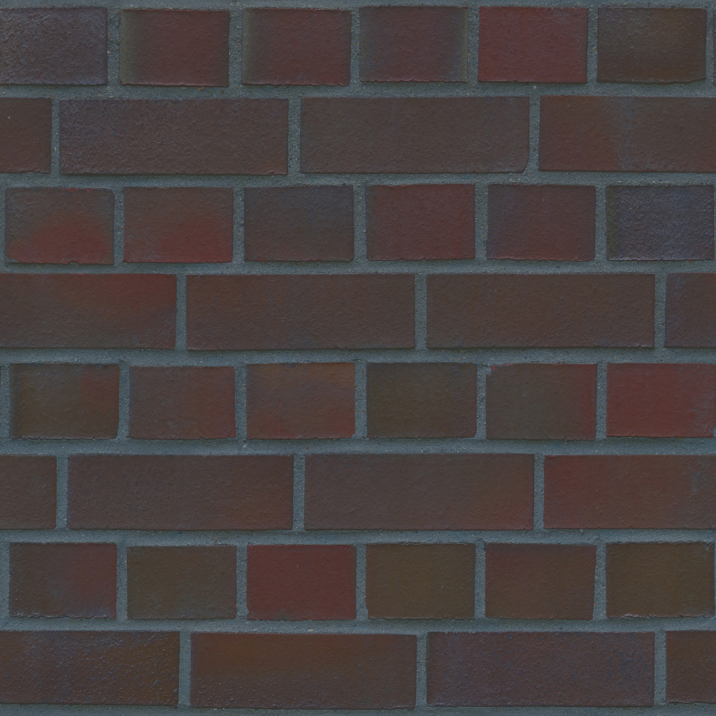 3D Scanned Seamless Brick Wall Red Albedo Map