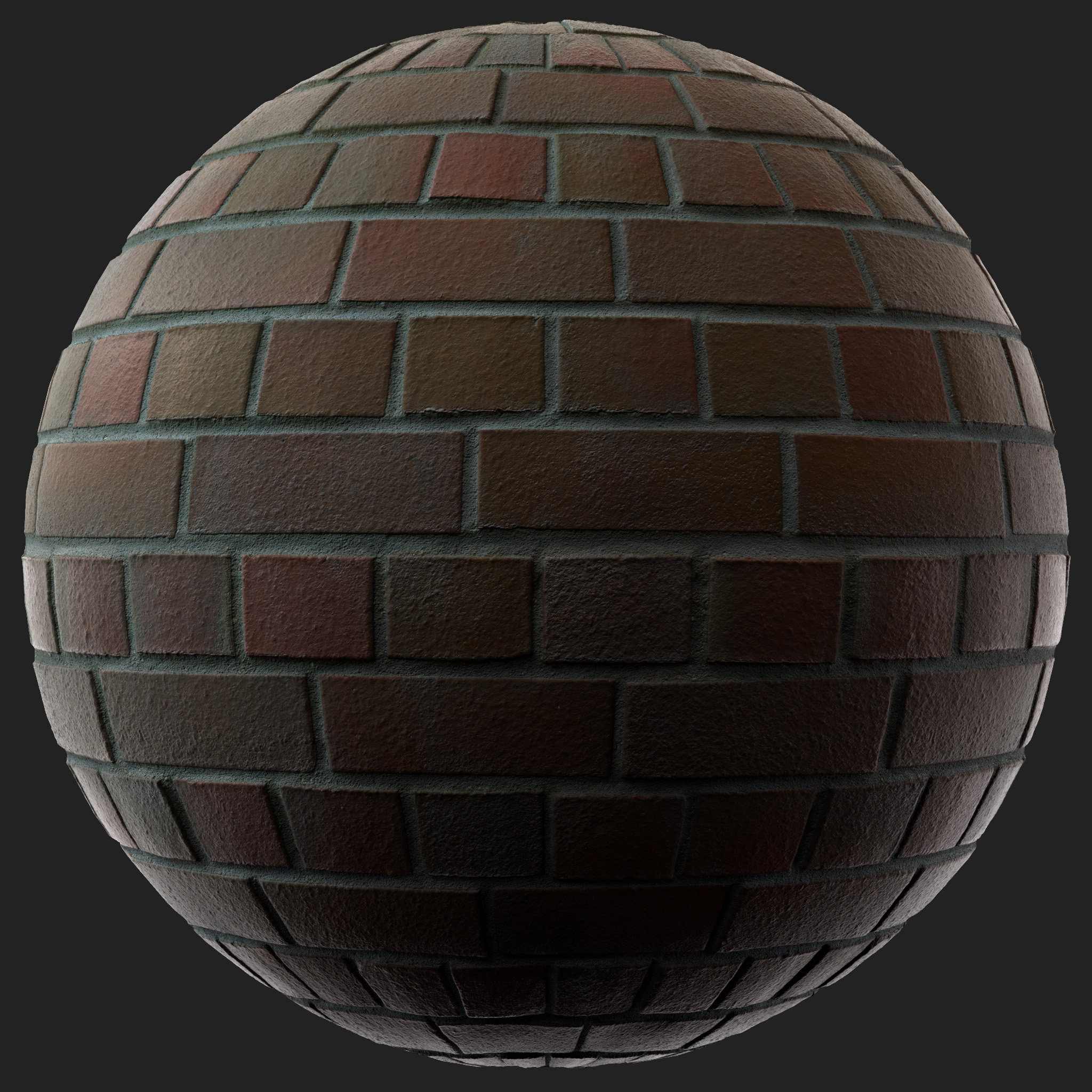 3D Scanned Seamless Red Brick Wall Material