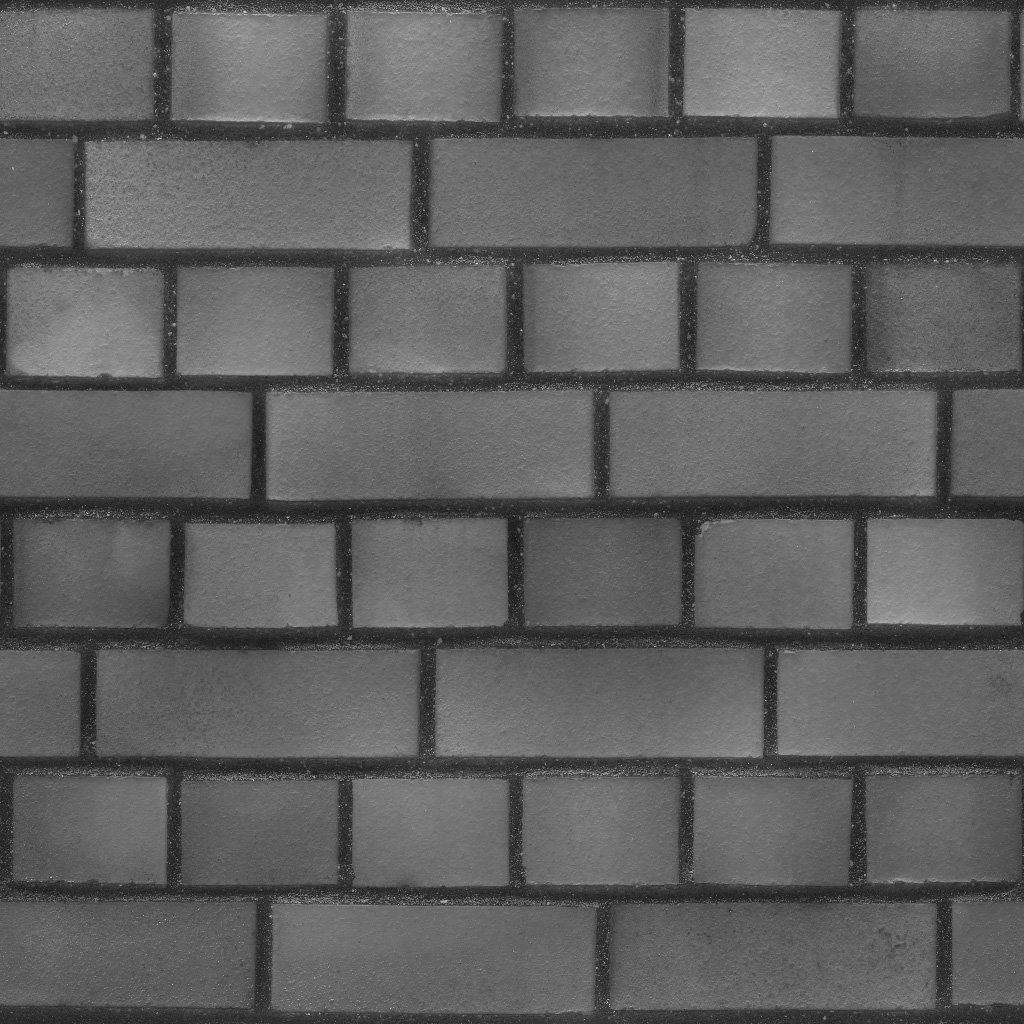 3D Scanned Seamless Brick Wall Red Specular Map